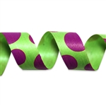 Grape Dots Cotton Curling Ribbon