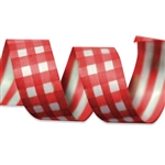 Picnic Gingham Cotton Curling Ribbon