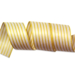 Jonquil Yellow Stripes Cotton Curling Ribbon