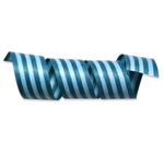 Teal Aqua Stripes Cotton Curling Ribbon