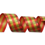 Fall Gingham Cotton Curling Ribbon