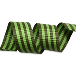 Fern & Lime Crimped Stripes Cotton Curling Ribbon