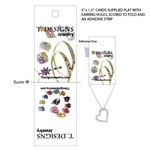 Custom Full Color Digital necklace & earring cards
