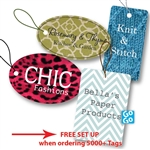 Custom Full Color Digital Tags With Strings