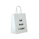 1 Color Ink-Printed Chimp White Paper Shopping Bag