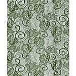 Moss Green Victorian Lace Florist Cello Rolls