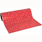 Wholesale Floral Counter Rolls - Valentine's Happy Hearts Red/White