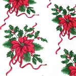 Wholesale Floral Counter Rolls - Poinsettia