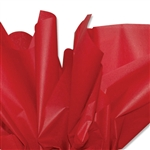 Deep Scarlet Red Colored Tissue Paper