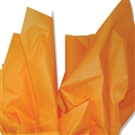 Tangerine Orange Colored Tissue Paper