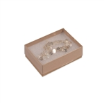 "Clear Top with Kraft Bases Jewelry Boxes 3"" x 2-1/8"" x 1"""