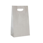 Die Cut Handle Stylin' Bags in White Kraft