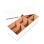 White Kraft Rigid Set up Boxes with Dividers