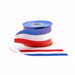 Tri-Color USA Patriot Flora Satin Ribbon