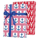 Shamrock Ship Ahoy!  Reversible Gift Wrap