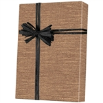 Shamrock Burlap Pattern Gift Wrap on Kraft