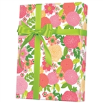 Rose Floral Gift Wrap E-7023