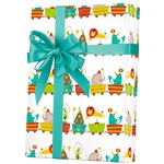 Shamrock Big Top Circus Gift Wrap