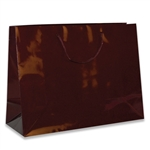 Burgundy Medium Eurotote Bags-Gloss Laminated