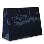 Navy Medium Eurotote Bags-Gloss Laminated