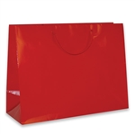 Red Medium Eurotote Bags-Gloss Laminated