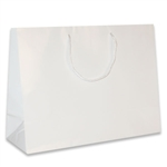 White Medium Eurotote Bags-Gloss Laminated