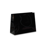 Black Mini Wide Eurotote Bags-Gloss Laminated