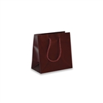 Burgundy mini Eurotote Bags-Matte Laminated