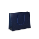 Navy Mini Wide Eurotote Bags-Matte Laminated