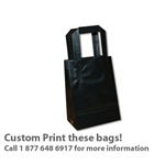 Frosted Petite Reusable Black Bags