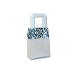 Frosted Petite Reusable Zebra Trim Bags