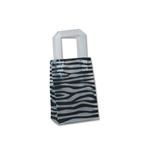 "Frosted Bags Mini - Zebra Nuevo 100 Bags/Case - 5"" x 3"" x 7"""