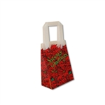 Frosted Petite Reusable Poinsettia Bags