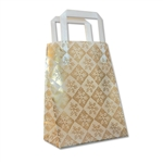 Frosted Petite Reusable Snowflake Check Gold Bags