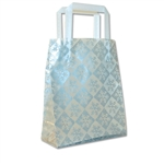 Frosted Petite Reusable Snowflake Check Silver Bags