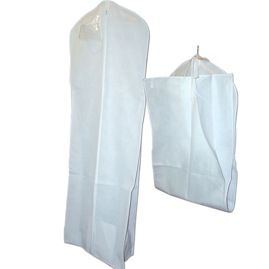 Zipper Bridal Gown Bags with Gusset