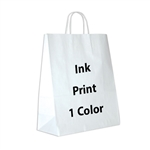 1 Color Ink-Printed Gazelle White Kraft Paper Shopping Bag
