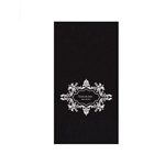 "Wedding Printed Guest Towel Napkins - Black - 4-1/4"" x 8-1/2"""