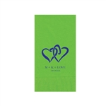 "Wedding Printed Guest Towel Napkins - Citrus Green - 4-1/4"" x 8-1/2"""