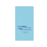 "Wedding Printed Guest Towel Napkins - Pastel Blue - 4-1/4"" x 8-1/2"""