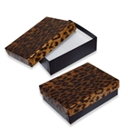 Leopard Metallic Jewelry Box with Black Bases