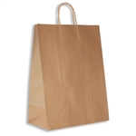 "Impala 100% Recycled Kraft Paper Shopping Bags: 13"" x 7"" x 17-1/2"" - 250 Bags/Case"