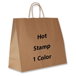 1 Color Hot Stamped Jaguar Kraft Paper Shopping Bag