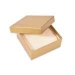 Dull Gold Linen Jewelry Boxes