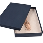 "Navy Blue Jewelry Boxes 7"" x 5"" x 1-1/4"""