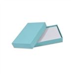 2 piece aqua jewel gift card boxes with inserts