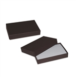 2 piece Brown gift card boxes with inserts