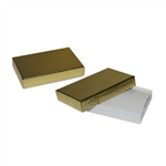 2 piece Gold Foil gift card boxes with inserts