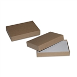 2 piece rigid kraft gift card boxes with inserts