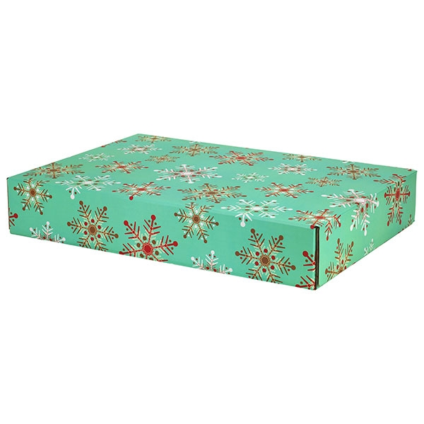 Fine Snowflakes Large Decorative Shipping Box 12 Pack 17 5 8 X 12 1 4 X 3